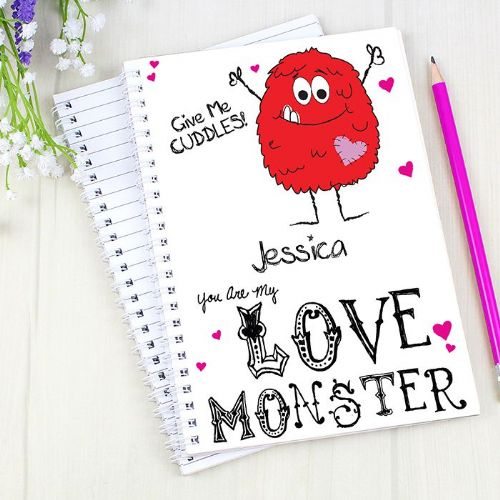 Personalised Love Monster A5 Notebook